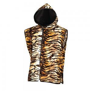 Sleeveless Tiger Print Ring Jacket