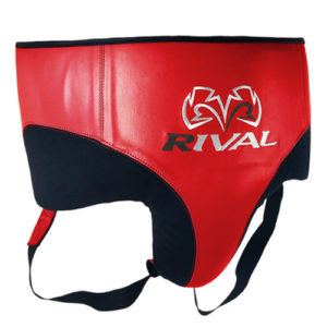 Rival RNFL10 Leather 360 Groin Protector – Red/Black
