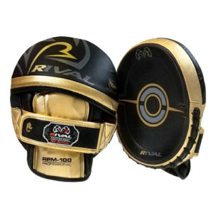 Rival RPM100 Professional Punch Mitts – Black/Gold