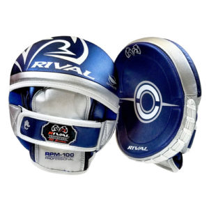 Rival RPM100 Professional Punch Mitts – Blue/Silver