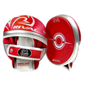 Rival RPM100 Professional Punch Mitts – Red/Silver
