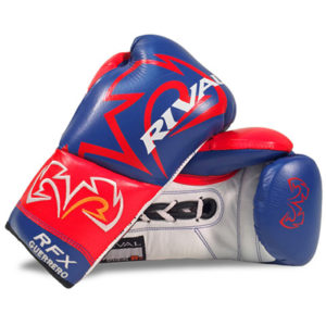 Rival RFX Guerrero Pro Fight Lace Up Glove – Blue/Red