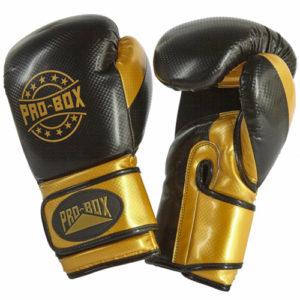 Pro-Box Champ Star Sparring Gloves – Black/Gold [Junior and Senior]