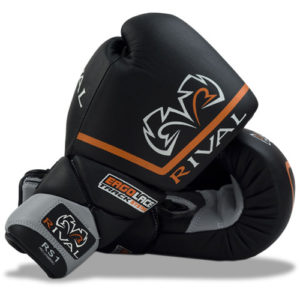 Rival High Performance RS1 Lace-Up Pro Sparring Gloves – Black