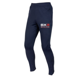 BXR Boxing Slim Fit Tracksuit Bottoms – Navy