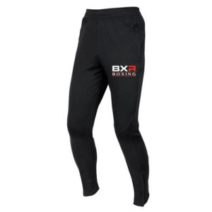 BXR Boxing Slim Fit Tracksuit Bottoms – Black