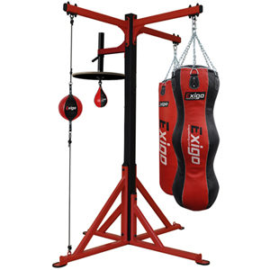 Exigo Ultimate 3 Station Boxing Bag and Speedball Frame Set