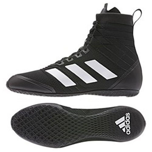 black and white adidas boxing boots