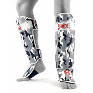 Sandee Sport Camo Synthetic Leather Boot Shinguard – Grey/White