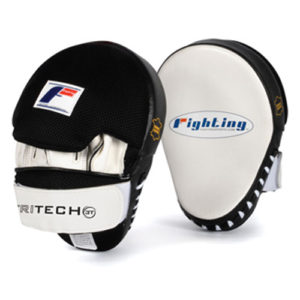 Fighting Sports Tri-Tech® Curved Mitts – White/Black