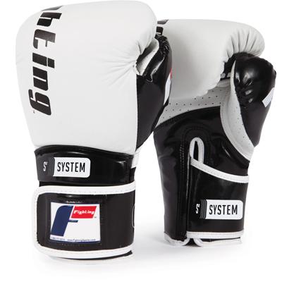 Fighting Sports S2 Gel Power Sparring Gloves – White/Black