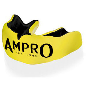 Ampro Custom Made Dentist Pro Mouthguard – Black & Yellow