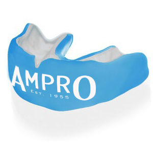 Ampro Custom Made Dentist Pro Mouthguard – White & Blue