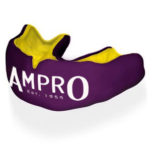 Ampro Custom Made Dentist Pro Mouthguard – Yellow & Purple