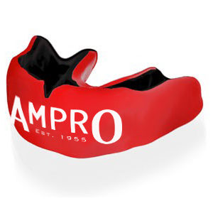 Ampro Custom Made Dentist Pro Mouthguard – Black & Red