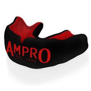 Ampro Custom Made Dentist Pro Mouthguard – Red/Black/Red