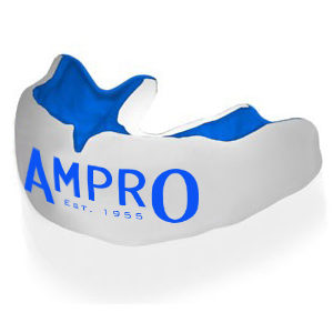 Ampro Custom Made Dentist Pro Mouthguard – Blue/White/Blue