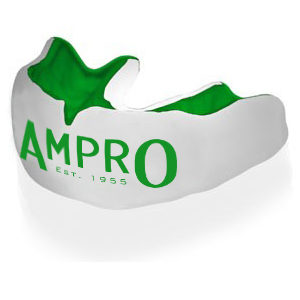 Ampro Custom Made Dentist Pro Mouthguard – Green & White