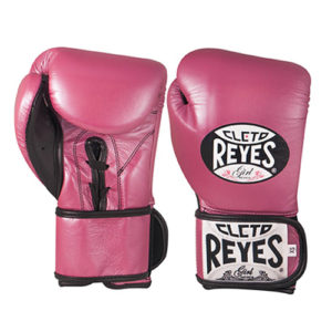 Cleto Reyes Velcro Kids/Junior Sparring Gloves – Pink