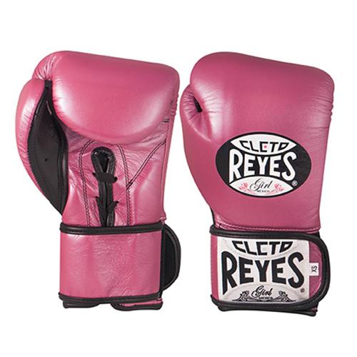 Cleto Reyes Velcro Kids/Junior Sparring Gloves – Pink