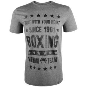 Venum Boxing Origins Short Sleeve T-Shirt – Grey/Black