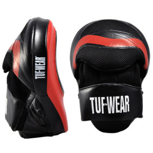 Tuf-Wear Aircurve Focus Hook and Jab Pads – Black/Red