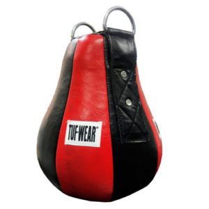 Tuf-Wear Leather Maize Ball Large – Black/Red