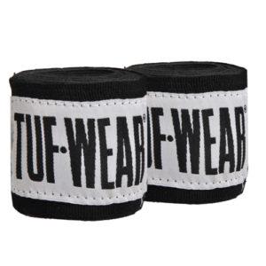 Tuf-Wear 1.5m Junior/Kids Boxing Hand Wraps – Black