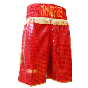 Bespoke Made Glitter & Tassle Boxing Shorts