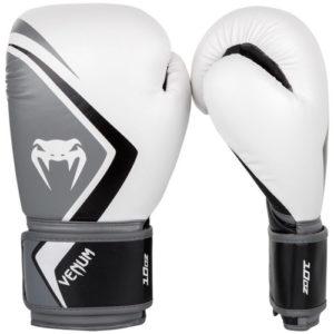 Venum Contender 2.0 Boxing Gloves – White/Grey/Black
