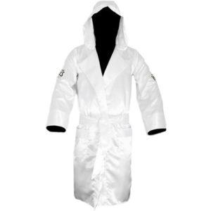 Cleto Reyes Satin Boxing Robe with Hood – White