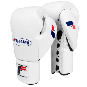 Fighting Sports Fury Professional Lace Training Gloves – White