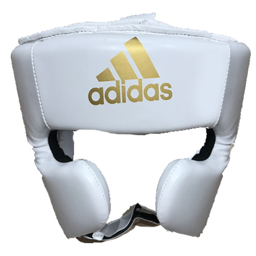 Adidas Speed Super Pro Training Head Guard – White/Gold
