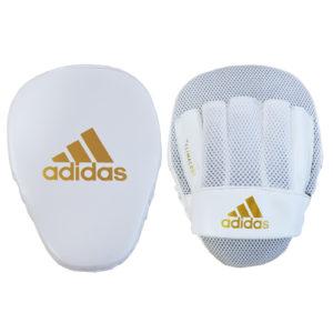 Adidas Speed Mesh Focus Mitts – White/Gold