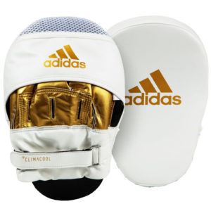 Adidas Curved Training Focus Mitts- White/Gold