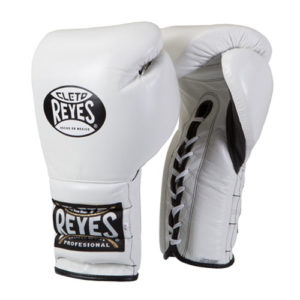 Cleto Reyes Lace Up Sparring Gloves White