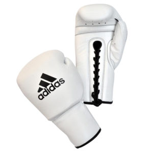 adidas Pro Boxing Lace-Up Gloves – White