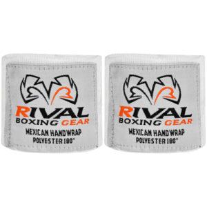 Rival Mexican 180″ Handwraps – White