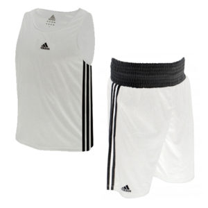 adidas Base Punch II Boxing Vest and Short Set – White