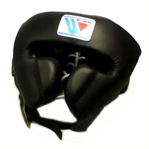 Winning FG-2900 Headguard With Cheek Protection – Black