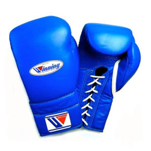 Winning MS Training Gloves Lace Up – Blue