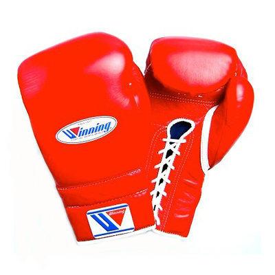 Winning MS Training Gloves Lace Up – Red