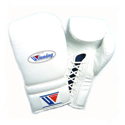 Winning MS Training Gloves Lace Up – White