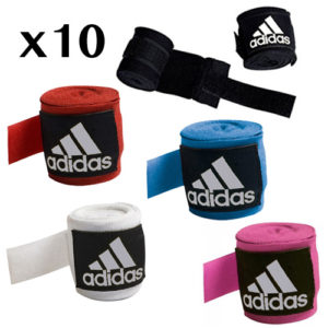 adidas Boxing Hand Wraps 3.5m x 10 [Black, Red, Blue, Pink or White]