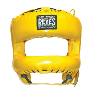 Cleto Reyes Headguard with Rounded Nylon Bar – Yellow