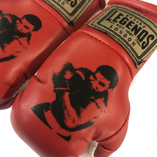 Legends Authentic Leather Mini Red Hanging Gloves – Muhammad Ali